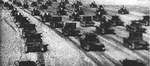 Russian troops invide Poland on September 17, 1939.